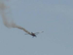 Fokker сбитый огнем с земли